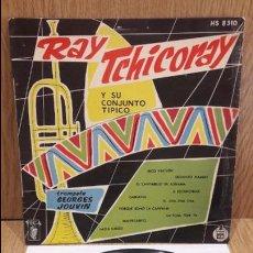 Discos de vinilo: 10 PULGADAS !! RAY TCHICORAY CON GEORGES JOUVIN. LP / VEGA-HISPAVOX - AÑOS 50 / MARCAS DE USO.***/**. Lote 64520339
