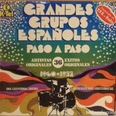 Discos de vinilo: GRANDES GRUPOS ESPAÑOLES - 1960 - 1977 - PASO A PASO K TEL - 1978 2 LP´S GAT. Lote 64572607