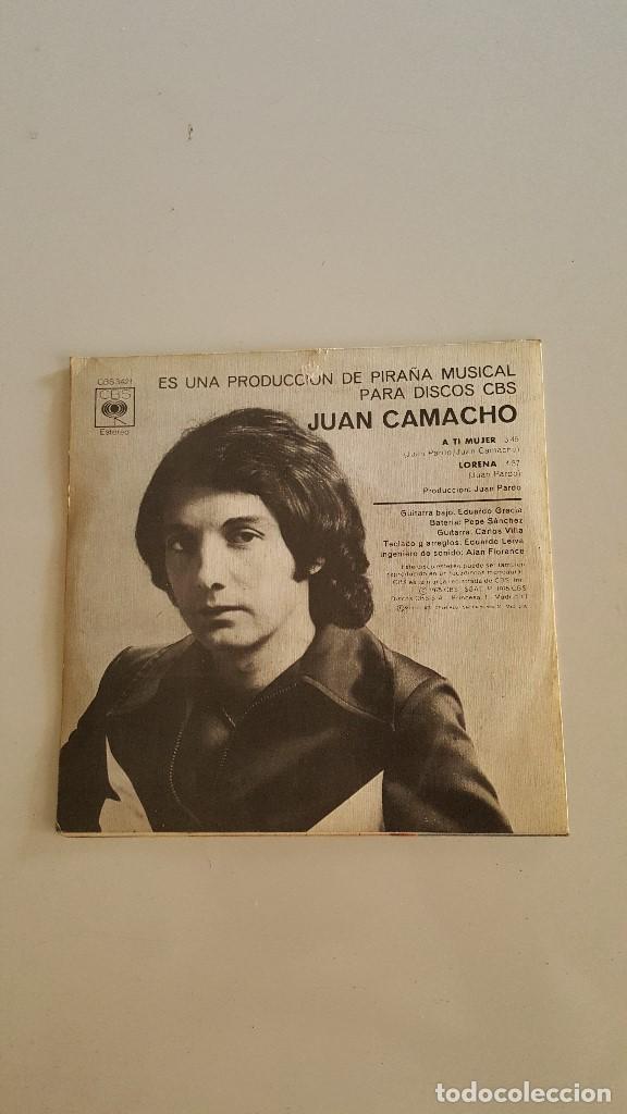 Discos de vinilo: JUAN CAMACHO - 1º PREMIO FESTIVAL BENIDORM 1975 - Foto 2 - 64585527