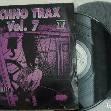 Discos de vinil: TECHNO TRAX VOL 7 - 2 LPS - MADE IN GERMANY. Lote 64605635