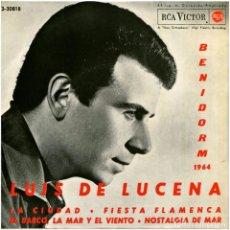 Disques de vinyle: LUIS DE LUCENA – BENIDORM 1964 - EP SPAIN 1964 - RCA VICTOR 3-20818. Lote 64651219