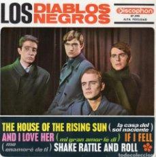 Discos de vinilo: DIABLOS NEGROS, EP, AND I LOVE HER (BEATLES) + 3, AÑO 1964. Lote 64662011