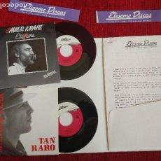 Discos de vinilo: FOLDER ELIGEME DISCOS CON DOS SINGLES DE MANOLO TENA TAN RARO Y JAVIER KRAHE ELÍGEME + 2 PEGATINAS B. Lote 194705363