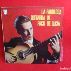 Discos de vinilo: LP FABULOSA GUITARRA PACO LUCIA AÑO 1967. Lote 64677479