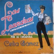 Discos de vinilo: CELIA GÁMEZ, LAS LEANDRAS, ODEON-DSOE 16.101. Lote 64699391