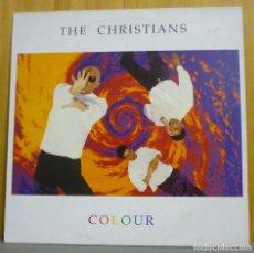 Discos de vinilo: THE CHRISTIANS - COLOUR - LP - ISLAND RECORDS - 210 455 - SPAIN 1989 - ENCARTE CON LETRAS. Lote 109400582