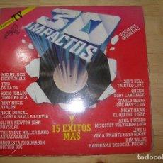 Discos de vinilo: 2 LPS 30 IMPACTOS VERSIONES ORIGINALES Y 15 EXITOS MAS. Lote 64715103