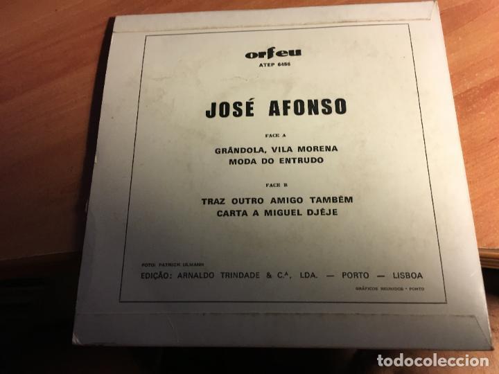 Discos de vinilo: JOSE AFONSO ( GRANDOLA, VILA MORENA) EP PORTUGAL (EPI3) - Foto 3 - 64727879