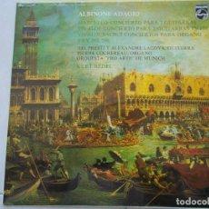 Discos de vinilo: I.PRESTI, A.LAGOYA, P.COCHEREAU, ORQUESTA PRO ARTE MUNICH, KURT REDEL - ADAGIO - LP - 1975. Lote 64759199