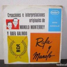 Discos de vinilo: RAFA GALINDEZ MANOLO MONTERREY 1978 LP T49 ESTADO VG+/G. Lote 64768951