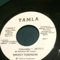 Discos de vinilo: 'CRUISIN' - MONO & STEREO' DE SMOKEY ROBINSON. SINGLE DE MÁQUINA JUKE BOX USA. 1979. RARO.. Lote 64807131