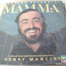 Discos de vinilo: LUCIANO PAVAROTTI / HENRY MANCINI: MAMMA. Lote 64825971