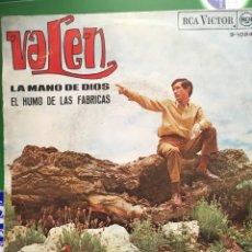 Disques de vinyle: VALEN-LA MANO DE DIOS-1967. Lote 64843102