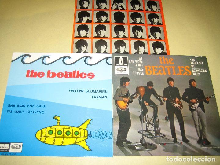 BEATLES - LOTE DE 3 SINGLES - COMO NUEVOS - VER FOTOS (Música - Discos - Singles Vinilo - Pop - Rock - Extranjero de los 70)