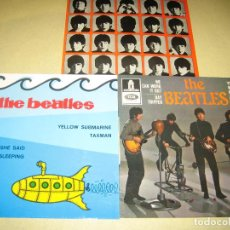 Discos de vinilo: BEATLES - LOTE DE 3 SINGLES - COMO NUEVOS - VER FOTOS . Lote 121242346
