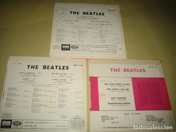 Discos de vinilo: BEATLES - LOTE DE 3 SINGLES - COMO NUEVOS - VER FOTOS - Foto 2 - 121242346