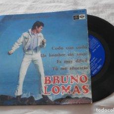 Discos de vinilo: BRUNO LOMAS 7´EP CODO CON CODO + 3 TEMAS (1967) **COMO NUEVO** COLECCIONISMO. Lote 64868911