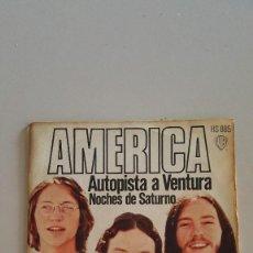 Discos de vinilo: AMERICA - AUTOPISTA A VENTURA (VENTURA HIGWAIT) - NOCHES DE SATURNO 1972. Lote 64869551