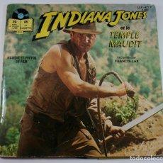 Discos de vinilo: INDIANA JONES Y EL TEMPLO MALDITO DISCO LIBRO 45 RPM - ORIGINAL 1984 !!! MUY RARO !!. Lote 64871543