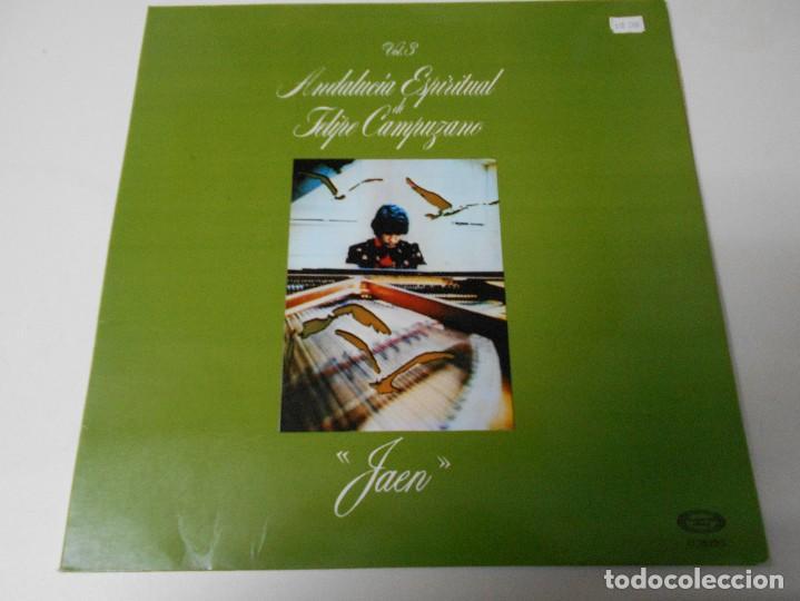 ANDALUCIA ESPIRITUAL DE FELIPE CAMPUZANO. VOL. 3. JAEN. LP CON 8 TEMAS. (Música - Discos - LP Vinilo - Flamenco, Canción española y Cuplé)