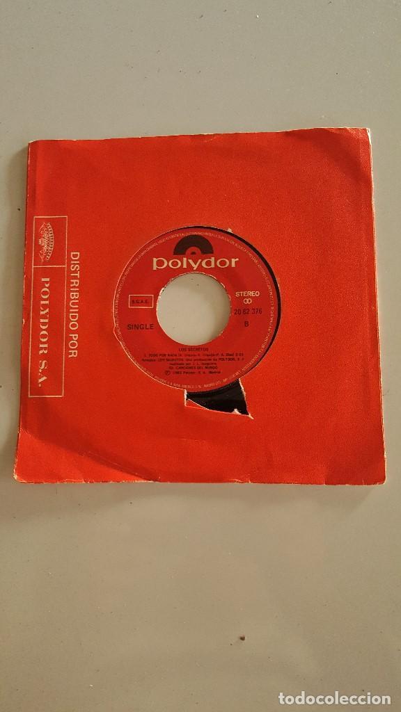 LOS SECRETOS – PROBLEMAS - TODO POR NADA (Música - Discos - Singles Vinilo - Grupos Españoles de los 70 y 80)