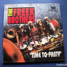 Discos de vinilo: THE FREEK BROTHERS TIME TO PARTY MAXI SPAIN 1990 PDELUXE. Lote 64892339