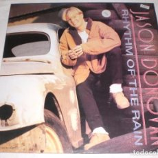 Discos de vinilo: JASON DONOVAN - RHYTHM OF THE RAIN. MAXI EN VINILO.. Lote 64926283