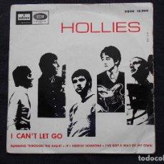 Discos de vinilo: THE HOLLIES // I CAN´T LET GO + 3. Lote 64935615