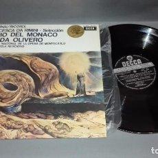 Discos de vinilo: 918-ORQUESTA NACIONAL OPERA MONTECARLO DISCO VINILO LP VG + / VG ++. Lote 64959207