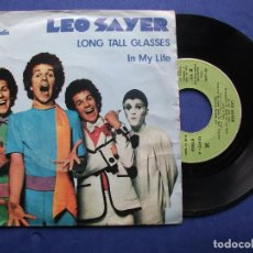 Discos de vinilo: LEO SAYER LONG TALL GLASES SINGLE SPAIN 1974 PDELUXE. Lote 64962923