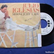 Discos de vinilo: JULIO IGLESIAS MOONLIGHT LADY SINGLE SPAIN 1988 PDELUXE. Lote 64964015