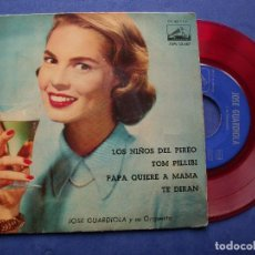 Discos de vinilo: JOSE GUARDIOLA LOS NIÑOS DEL PIREO + 3 EP SPAIN 1960 PDELUXE. Lote 64964935