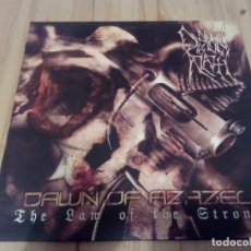 Discos de vinilo: DAWN OF AZAZEL -THE LAW OF THE STRONG -LP BLACK METAL DEATH METAL. Lote 64974963