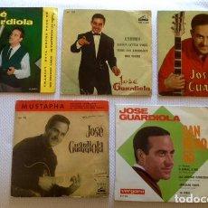 Discos de vinilo: [LOTE DE CONJUNTO:] 5 EPS DE JOSÉ GUARDIOLA (1960-1965). Lote 64985259