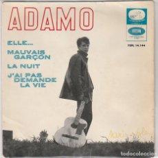Disques de vinyle: ADAMO / ELLE...+ 3 (EP 1965). Lote 65018535