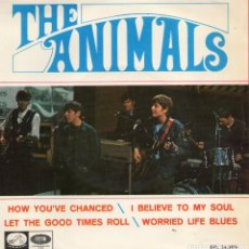 Discos de vinilo: THE ANIMALS, EP, HOW YOU´VE CHANCED + 3, AÑO 1966. Lote 65110003