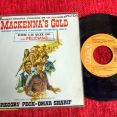 Discos de vinilo: QUINCY JONES -JOSE FELICIANO. BANDA SONORA MACKENNA'S GOLD 4 TEMAS. Lote 65127135