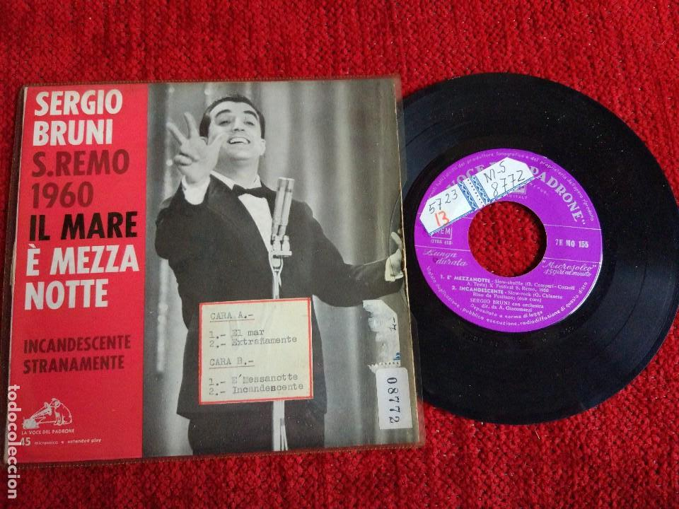SERGIO BRUNI IL MARE EP (Música - Discos de Vinilo - EPs - Canción Francesa e Italiana)