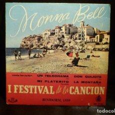 Discos de vinilo: MONNA BELL. BENIDORM 1959. EP 4 CANCIONES. Lote 65402811