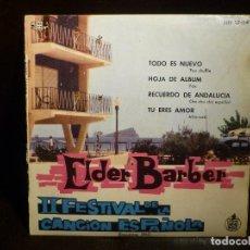 Discos de vinilo: ELDER BARBER. BENIDORM 1960. EP 4 CANCIONES. Lote 65405027