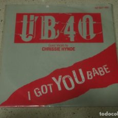 Discos de vinilo: UB40 FEATURING CHRISSIE HYNDE ( I GOT YOU BABE - THEME FROM LABOUR OF LOVE ) 1985-GERMANY. Lote 65423899