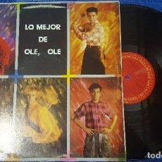 Discos de vinilo: LO MEJOR DE OLE OLE LP RECOPILATORIO HECHO EN MEXICO 1988 VICKY LARRAZ MUY RARO. Lote 65430795