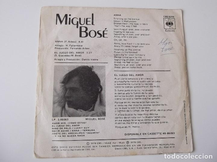 Discos de vinilo: MIGUEL BOSE - Anna - Foto 2 - 65431323