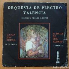Discos de vinilo: ORQUESTA DE PLECTRO VALENCIA - MIGUEL A. CHAPI - 1979. Lote 65458254
