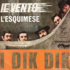 Discos de vinilo: I DIK DIK, SG, IL VENTO + 1, AÑO 1968. Lote 65681522