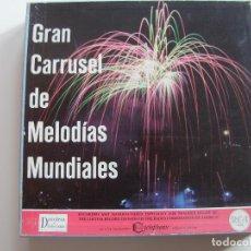 Discos de vinilo: CARPETA CON 12 DISCOS GRAN CARRUSEL DE MELODIAS MUNDIALES. Lote 65688458