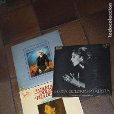 Discos de vinilo: MARIA DOLORES PRADERA ACOMPAÑADA POR LOS GEMELOS 3 LP. Lote 65726382