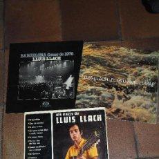 Discos de vinilo: LLUIS LLACH 3 LPS EL MEU AMIC EL MAR, ELS EXITS Y BARCELONA GENER DE 1976. Lote 65726614