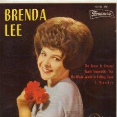Discos de vinilo: BRENDA LEE, EP, THE GRASS IS GREENER + 3, AÑO 1964. Lote 65730910