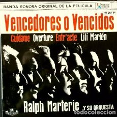 Discos de vinil: BSO VENCEDORES O VENCIDOS (JUDGMENT AT NUREMBERG) (EP 1962) RALPH MARTERIE ORQUESTA - HISPAVOX. Lote 65821954